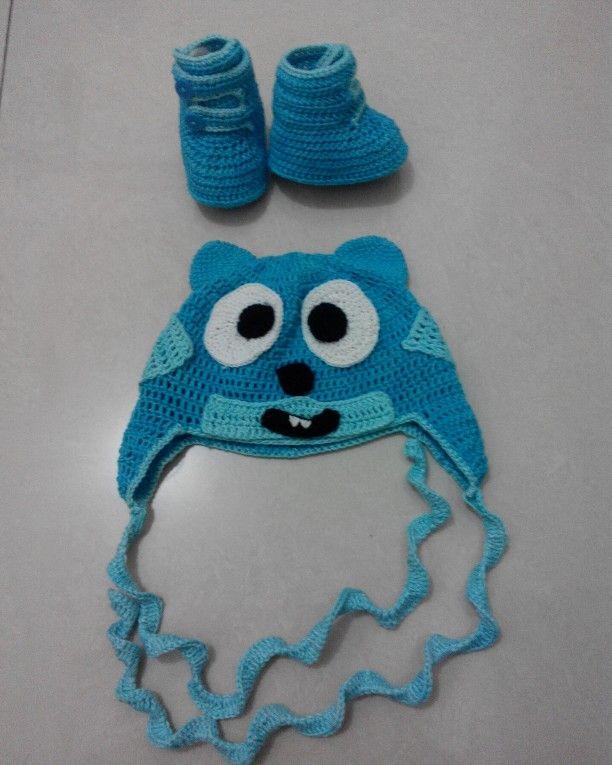 Topi rajut bayi baby crochet rajutan bayi
