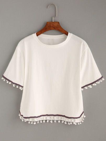 T-shirt décontracté manche courte - noir