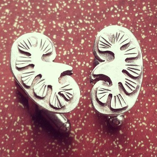 Kidney cufflinks- custom order | Flickr - Photo Sharing!