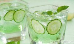 Göbek yağları için salatalık çayı tarifi
