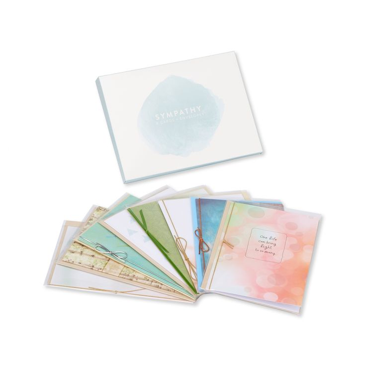 8ct American Greetings Sympathy Greeting Card Collection,