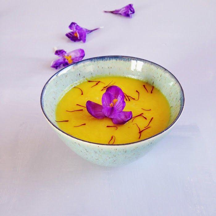 vellutata peperoni gialli e zafferano