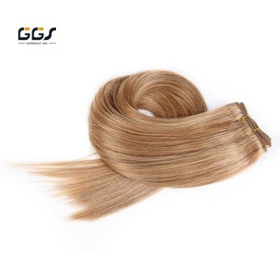 Malysian Hair Weave #18 Beige Blonde Straight Wave Machine Remy Human Hair Extensions 5A 100g