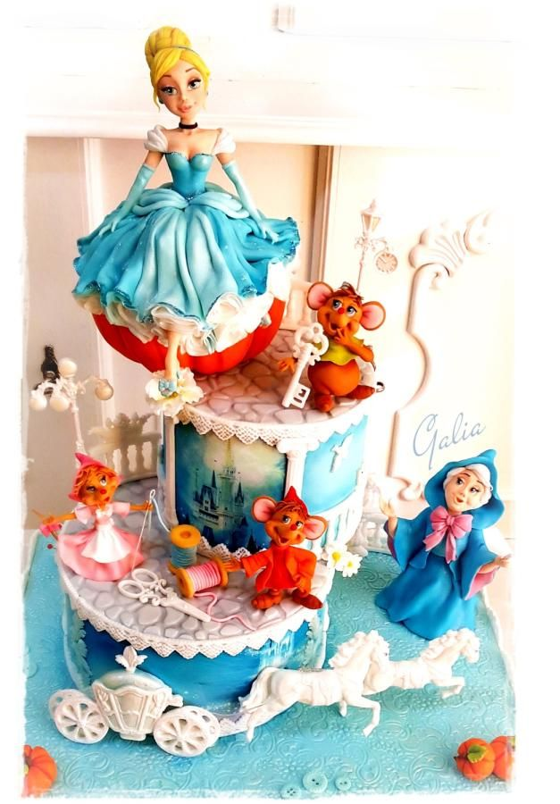 Cake for my daughter...Cinderella - Cake by Galia Hristova – Art Studio