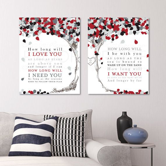 First anniversary gift wedding song lyrics canvas by