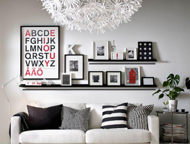 arquitrecos - blog de decoração: Organizando com prateleiras rasas - Post 03: Quadros e Coleções
