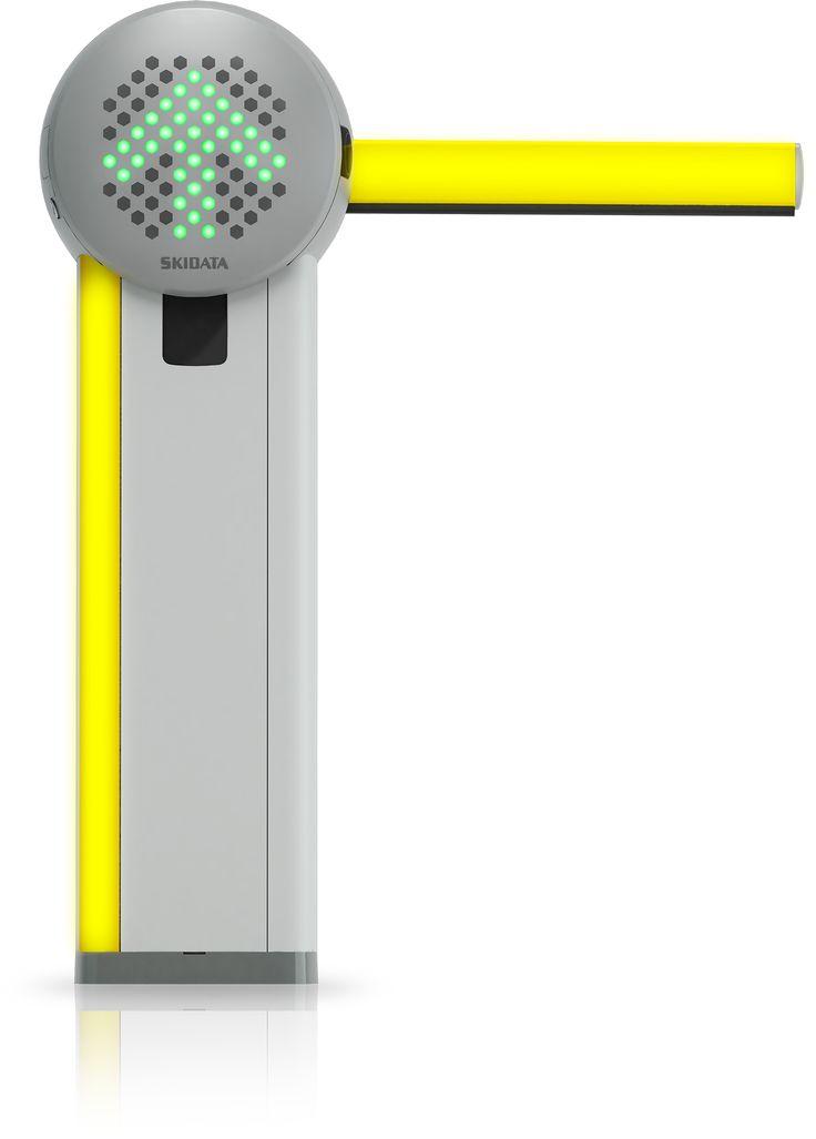 SKIDATA Barrier.Gate with LED lane signal.  Skidata Barrier.Gate LEDes forgalmi jelzőlámpával.