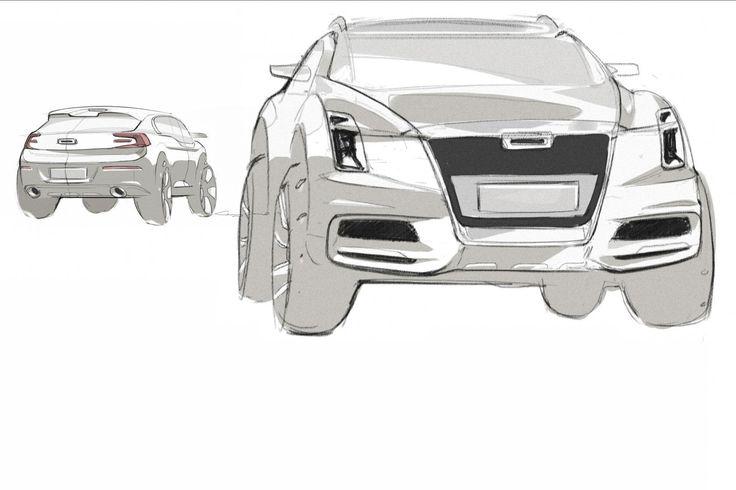 Design Development: Qoros 2 PHEV concept - Car Design News