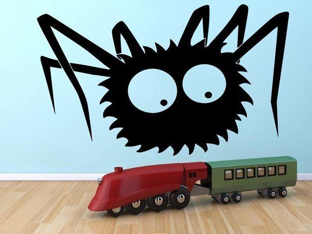 via en.dawanda.com Wall Stickers – Funny Spider - Kids Room Wall Sticker / Sticker – a unique product by Broomsticker on DaWanda