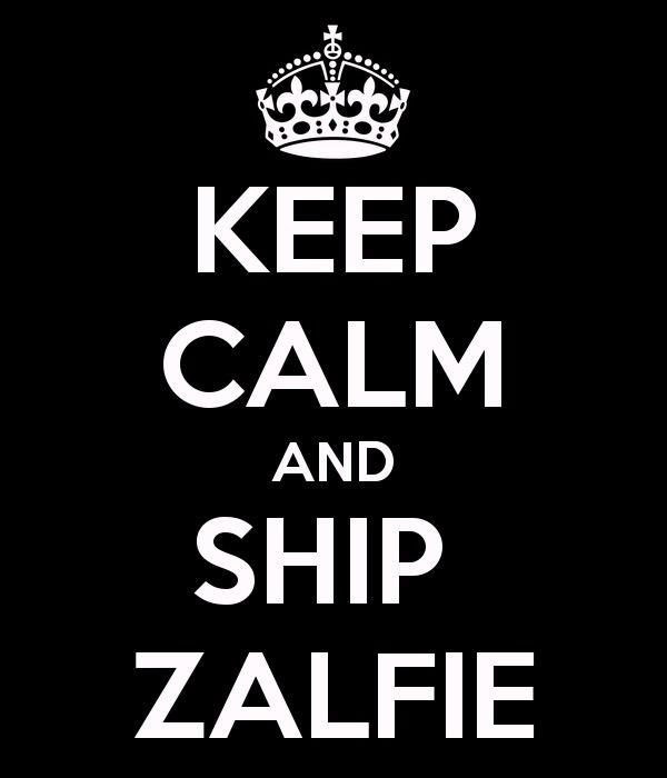 Keep calm and ship zalfie :) those youtube vloggers.