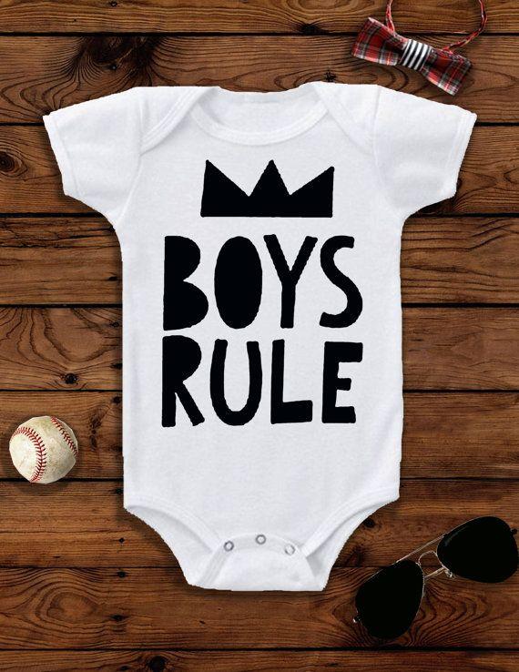 Baby Boy, Baby Boy Clothes, Baby Boy Outfit, Baby Boy Onesie®, Boy Toddler, Boys First Birthday Outfit, Boys Rule, Boy Toddler Clothes