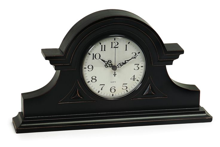 Spring romance make your room bloom! we make beautiful home furnishings affordable Black Mantel Clock at http://www.reecefurniture.com/products/2631-black-mantel-clock?utm_campaign=social_autopilot&utm_source=pin&utm_medium=pin.