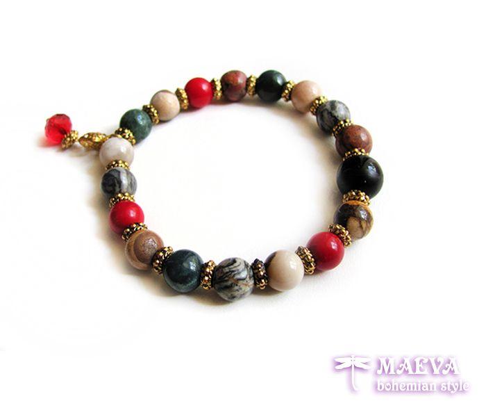 #Retro bracelet #boho style #gemstone jewelry #royal bohemian http://maevabohemian.com/Bracelet%20Modern%20Style?product_id=71&limit=100