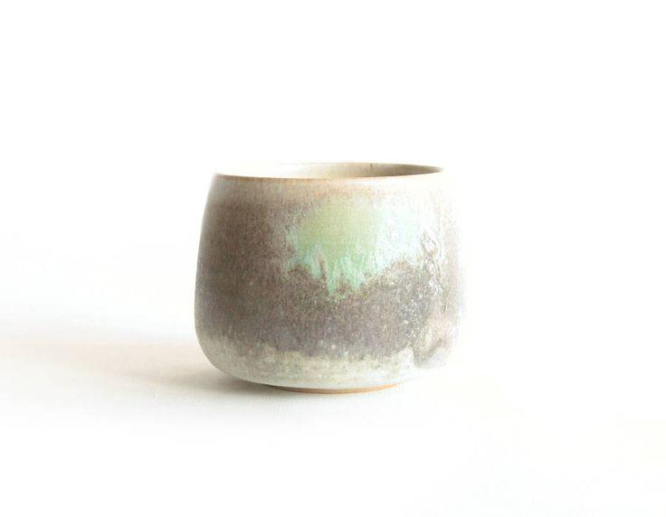 Grey and Green Tea cup, Handmade ceramics by RzucidloCeramics on Etsy
