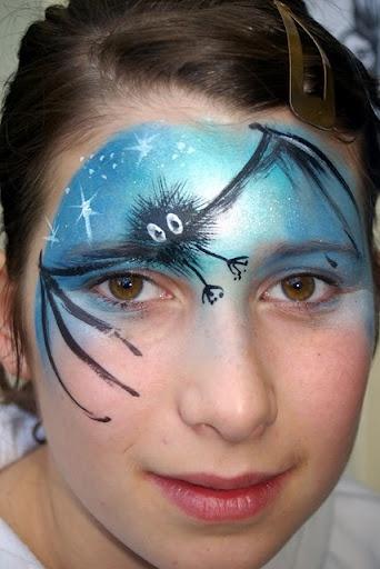 196 best images about face painting halloween on pinterest - Fledermaus schminken ...
