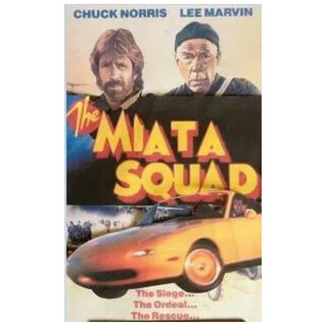 """topmiata: """"Via @mazdaroadster """"Here is an old VHS tape, Made for TV Movie (1995) with Chuck Norris. The Miata Squad / 1995 A low budget made for TV Movie, but still cool. This is the movie which was made for all Miata owners. Some Miata club members are arrested for selling drugs at a Import Car show in Los Angeles, California. One of members tries to prove their innocent with help of an investigator of police office. (Chuck Norris). He drives a V8 Monster Miata with weapons on the ready to…"""