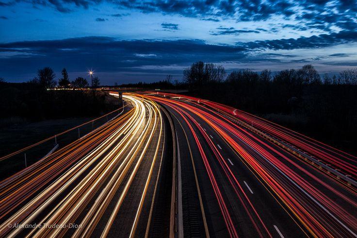 Lights trails  by Alexandre Trudeau-Dion, via 500px