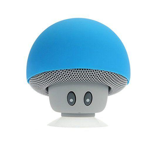 Drahtlose Bluetooth Mini Lautsprecher Pilz wasserdichte Silikon Saug Freisprecheinrichtung Halter Music Player für iPhone und Android Blau