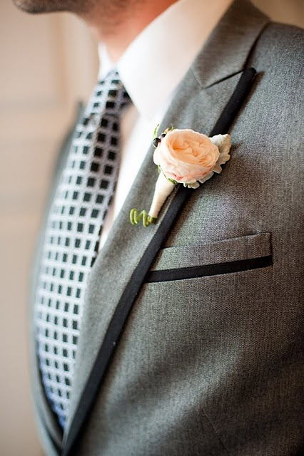 Peach Garden Rose Boutonniere 235 best boutonnieres + corsages images on pinterest | wedding