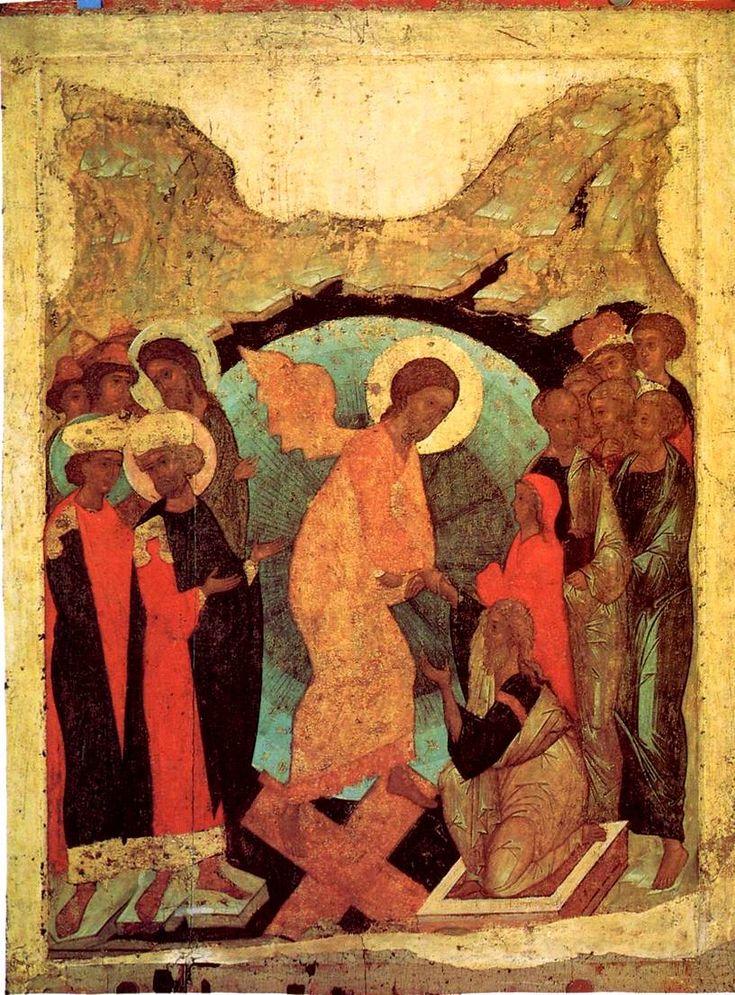 Сошествие во Ад Андрей Рублев, Даниил Черный и мастерская 1408 г. 124 x 94 см…