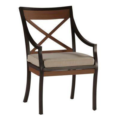 Summer Classics Belize Patio Dining Chair with Cushion Color: Tropical Silhouette Midnight