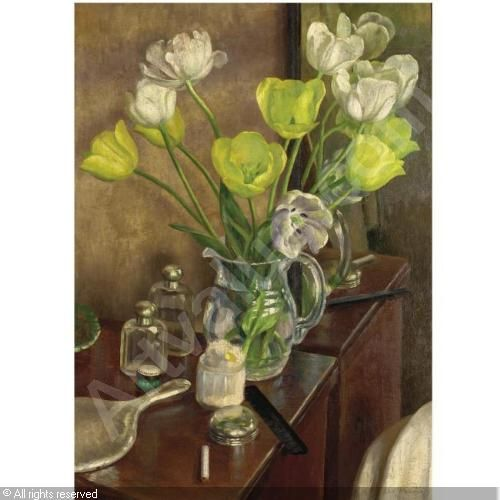 dod procter  | PROCTER Dod,TULIPS ON THE DRESSING TABLE,Sotheby's,London