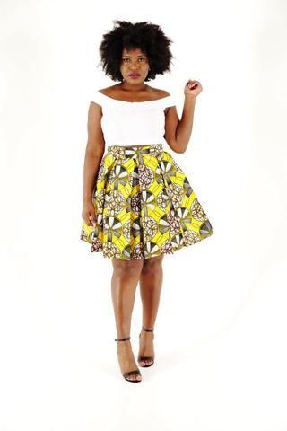 Emma African Midi Skirt - HouseOfSarah14