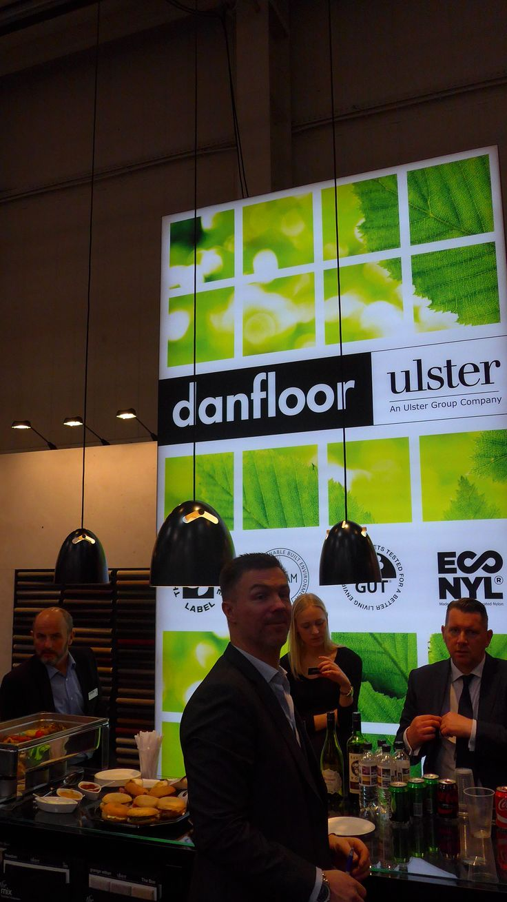 Danfloor booth at Domotex 2016 presenting among other collections also the ECONOMIX collection made with ECONYL® 100% regenerated yarn.