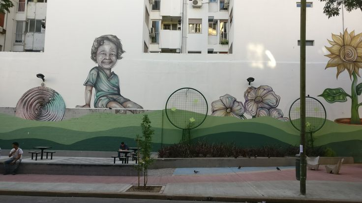 Хипстерский и тусовочный район Палермо. Аргентина, Буэнос - Айрес.