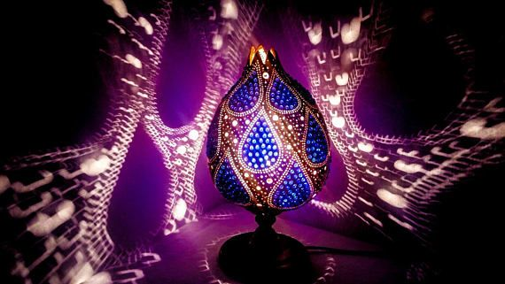 VALENTINE'S SALES Gourd lamp art deco handcrafted Ottoman