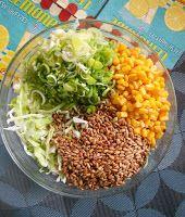 IMPRESJA smaku...: Sałatka z kapusty ze słonecznikiem (do mięsa, na g...
