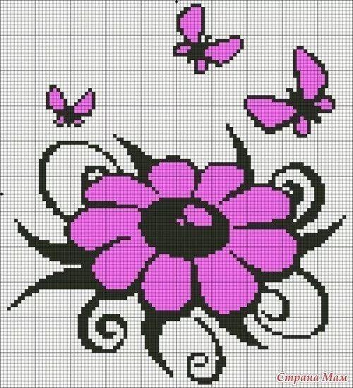 Flower butterfly c2c