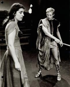 Irene Papas and Christopher Walken in Iphigenia in Aulis, 1967