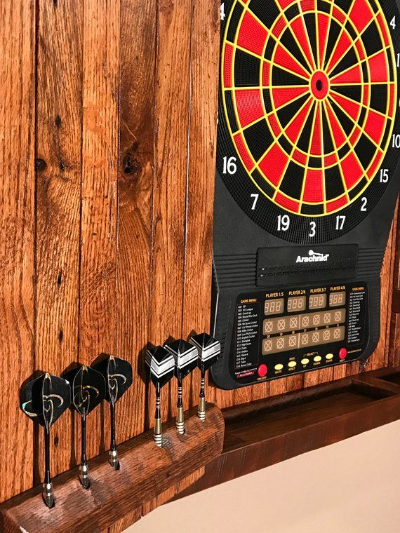 Large Electronic Dartboard Cabinet Reclaimed Barn Wood Etsy
