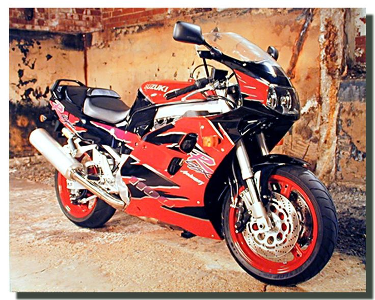 Suzuki 1100 GSX Anniversary Motorcycle Poster   Motorcycle Posters