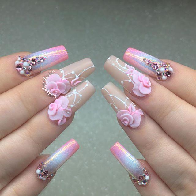 Pic3⠀⠀⠀⠀⠀ ⠀ ⠀ ⚜⚜Close up shot of Katherine's nails ⚜⚜⠀⠀⠀ ⠀⠀⠀ #nail #nails # nailart #nailwow #nailswag #instanails#ignails#nailstagram ... - 702 Best 3D Nail Art Images On Pinterest 3d Nail Designs, 3d Nails