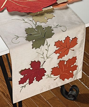 Look what I found on #zulily! Falling Leaf Faux Silk Table Runner #zulilyfinds