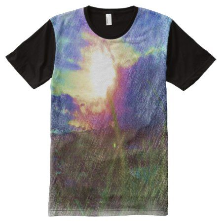 Nature with the sun looking like a flower All-Over-Print T-Shirt - click to get yours right now!