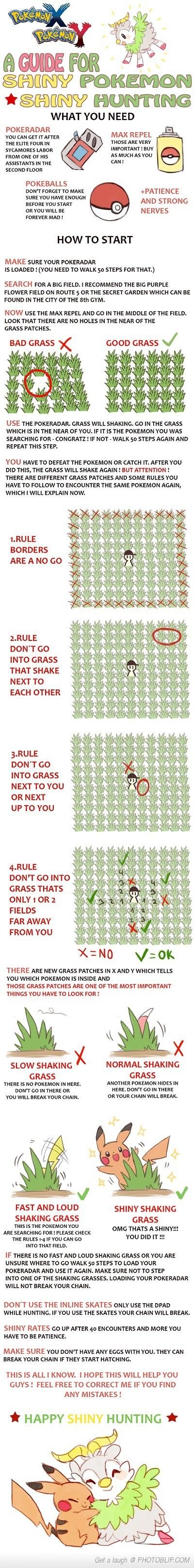 A Guide For Hunting Shiny Pokemon! Gotta try it! :3