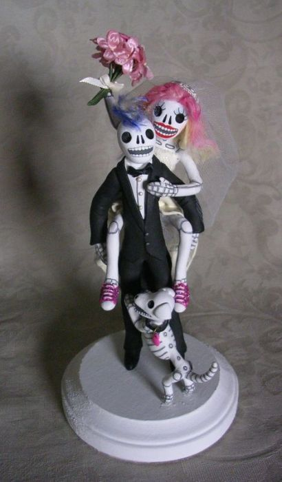 day of the dead wedding cake toppers uk day of the dead wedding cake topper piggyback day of the 13362