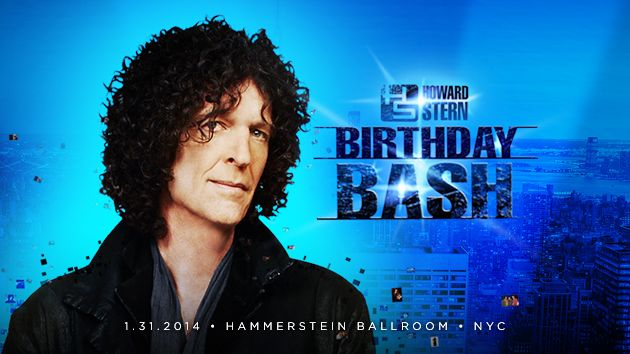Howard Stern's Birthday Bash to stream for free, live, at siriusxm.com