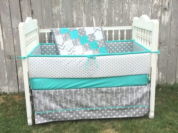 Hey, I found this really awesome Etsy listing at https://www.etsy.com/listing/244822794/teal-grey-baby-crib-bedding-set-crib-set Baby bedding, crib bedding, teal crib set, polka-dot b crib set, arrow crib bedding, gray arrows