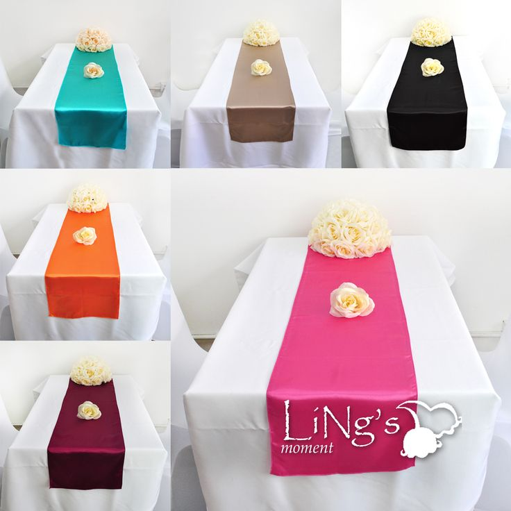 10 pieces 12x108 satin table runner wedding party banquet decoration free sh