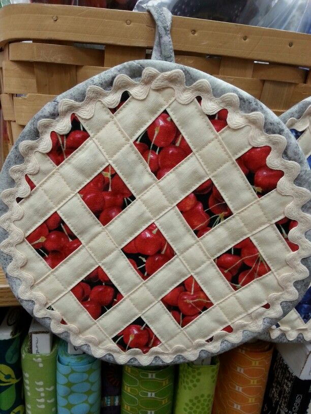 Cherry Pie Hot Pad Hot Pads Fall Sewing Projects