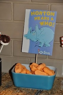 Horton Hears a Who! - Horton Treats- candy peanuts- or use nutter butter cookies