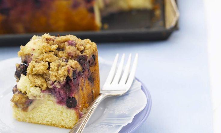 Mes 5 Gâteaux : crumb cake aux myrtilles Recette | Dr. Oetker