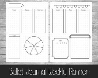Book/Reading Bullet Journal Extra Pages --------------------------------------------------------   Please note this is a digital listing and is for extra bullet journal pages. The Basic Bullet journal can be purchased here:  https://www.etsy.com/uk/listing/271382845/printable-bullet-journal-pages-a5-us  This download contains a 4 pages PDF: 1. Bookshelf Reading List 2. To-read list 3. Book notes/review page 4. Reading log  This download allows you to keep track of how many books youve read…