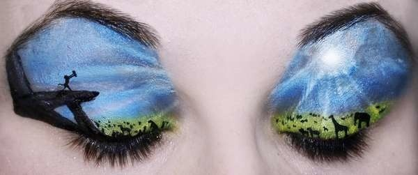Katie Alves make works of art on peoples eyelids. These particular shots I am sure most people would recognize, as they are directly from Disney Movies.Lionking, Eye Makeup, Lion Kings, Circles Of Life, Eye Shadows, Makeup Art, Eyeshadows, Eye Art, Disney Movie