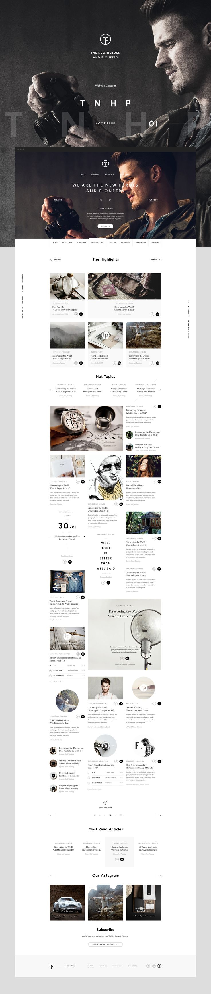 Art-direction, research and complete website design for brand new online cultural magazine and book publishing company from Sweden.They have an amazing team of partners coming from publishing, editing, photography and journalism worlds, with a huge pass…