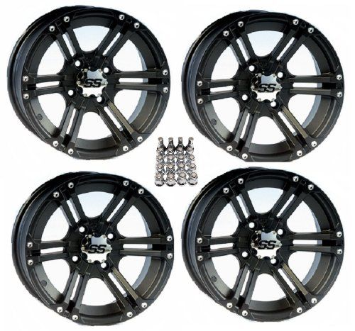 "Itp Ss212 Atv Wheels/Rims Black 12"" Honda Rincon Yamaha Rhino Kawasaki Brute Force Suzuki Kingquad (4), 2015 Amazon Top Rated ATV & UTV #AutomotivePartsandAccessories"